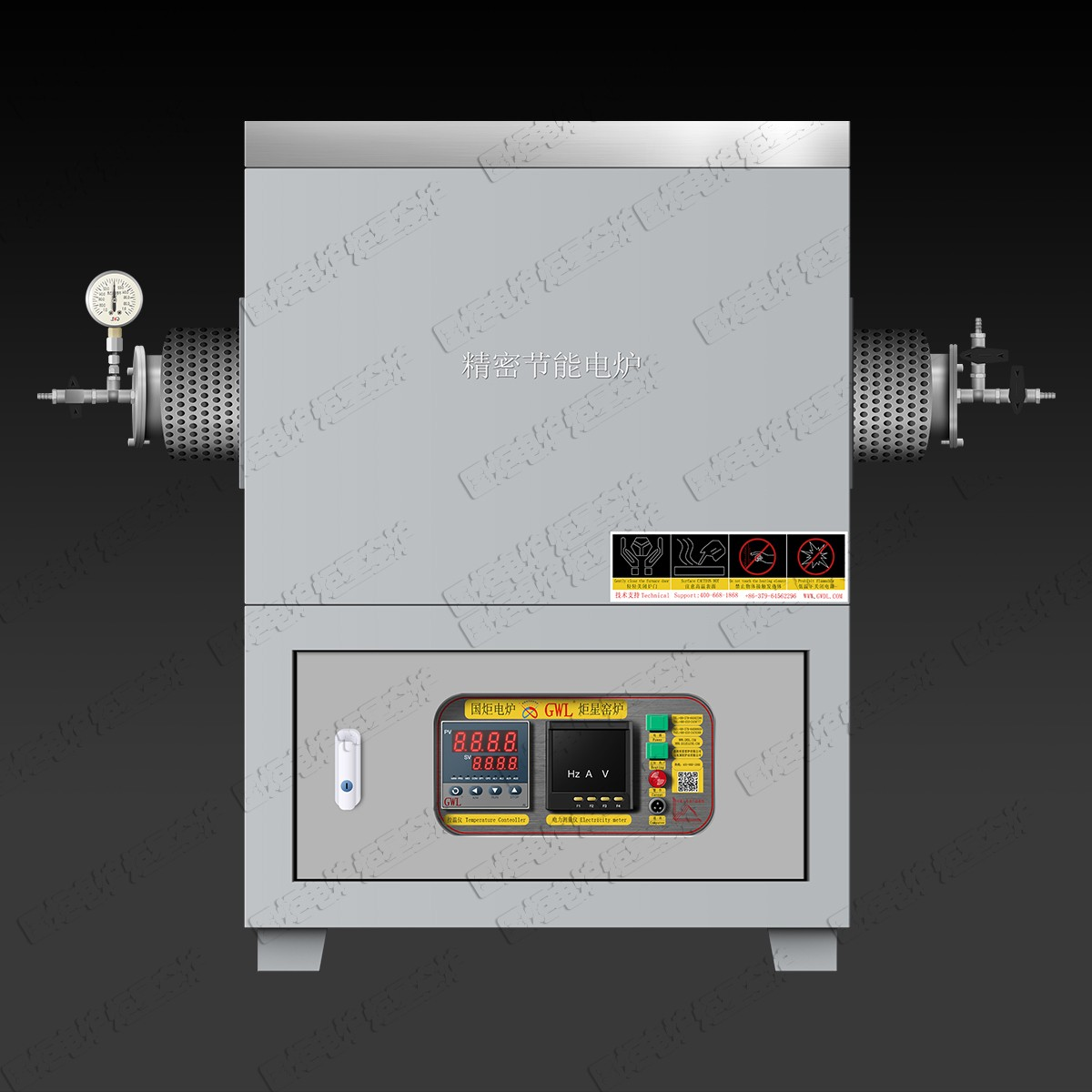 High Temperature Vacuum Atmosphere Tube Furnace With Gas Control Cabinet